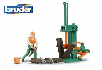 Forestry Accessories Log Splitting Figure - Bruder 62650 Scale 1:16 Toy NEW • 23.50£