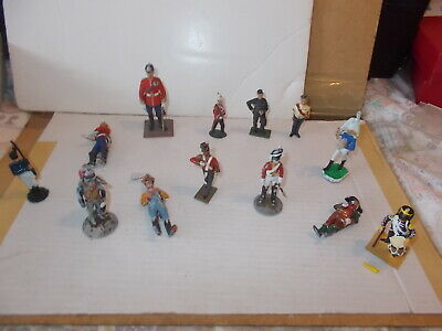 Job Lot 2 - Painted 54mm Metal Figures,13 Napolionic & Colonial Eras,see Photos • 9.99£