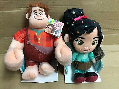 Official Disney Wreck It Ralph + Vanellope Set Soft Toy 10  25 Cm Rrp £30 Plush • 13.99£