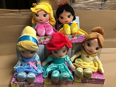 Official Disney Princess Soft Toy Plush 10  25cm Dolls Ariel Belle Aurora Snow • 9.99£