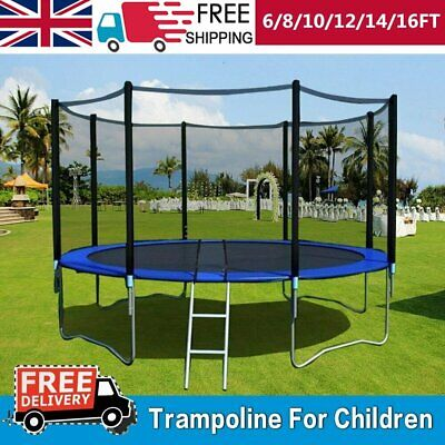 6 8 10 12 14 FT Trampoline Safety Net Enclosure Spring Cover Padding Ladder • 315.99£