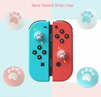 4Pcs Kawaii Thumb Grips Cap Cover For Switch/Switch Lite Joycon Joystick Console • 3.32£
