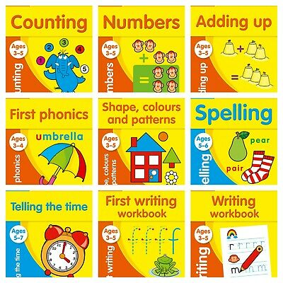 Kids Educational Activity Book Children Collins Early Learning Numbers Shapes • 4.95£