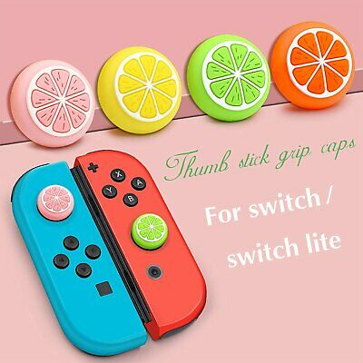 Silicone Sweet Fruits Joystick Thumb Grip Caps For Switch & Switch Lite Joy-Con • 3.23£