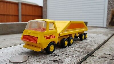 Vintage Tonka Bottom Dump Truck No.655 Yellow Late Issue • 24.95£