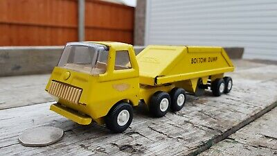 Vintage Tonka Bottom Dump Truck No.655 Yellow Early Version • 24.95£