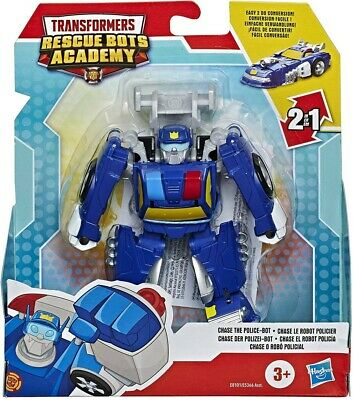 Playskool Transformers Rescue Bots Academy Chase The Police-Bot (E8101) • 12.99£