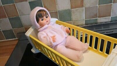Vintage Fisher Price Doll And Musical Crib • 20£