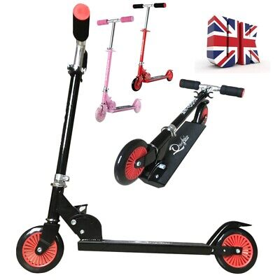 2 Wheeled Aluminium Kids Scooter Folding Push Kick Street Scooter • 20.99£
