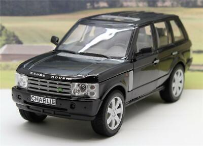 PERSONALISED PLATE Gift Black 1/24 RANGE ROVER Boys Toy Dad Model Present Boxed • 19.99£