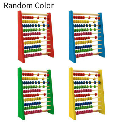 Childrens 20cm Wooden Bead Abacus Counting Frame Kids Educational Maths Toy GOOD • 7.59£