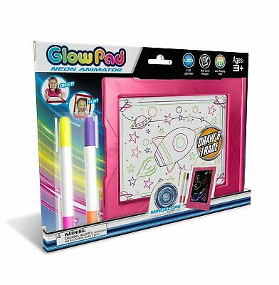 Mindscope Light Up LED Glow Pad Pink Animator With Glow Markers • 14.99£
