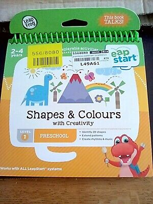 LeapFrog Shapes Colours And Creativity Activity Book Learning LeapStart • 3£
