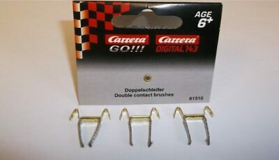 Greenhills Scalextric Carrera  Go!!! Double Contact Brushes / Braids X 3 - NE... • 3.99£