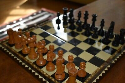 Vintage Wooden Chess And Board Set • 25£