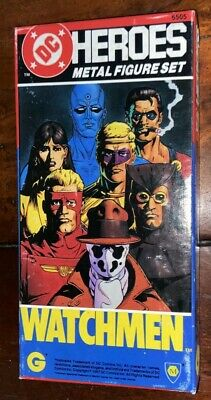 DC Heroes WATCHMEN Metal Figure Set 1985 - BOXED • 65£