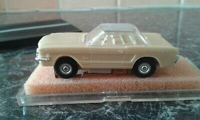 MARUSAN ATLAS FORD MUSTANG HO SLOT CAR - Mint Condition, Rare Roof Colour • 89£