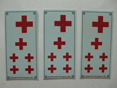 Set Of 3 Airfix 1:76 Emergency Set 03304 Decal Sheets • 1.20£