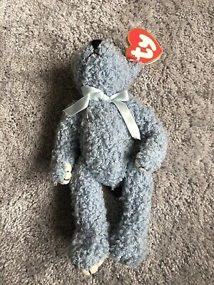 Ty Beanies - Attic Treasures Bluebeary Bear With Tag - Mint - • 3£