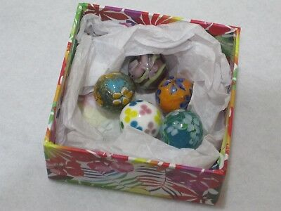 Collectors Marbles - Five 22mm Hand Made Marbles From The 'House Of Marbles' • 8.95£
