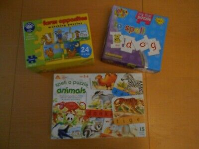 Bundle Of 3 Early Learning Puzzles Inc Orchard Toys And ELC • 5£