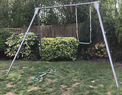 TP Double Metal Swing With Two Swings, Baby Swing Seat And Trapeze • 50£