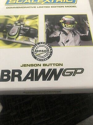 Scalextric Limited Edition Brawn BGP 001 F1 2009 Jenson Button C3047A • 55£