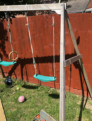 Kids TP Wooden Swing Set- Derby • 15£