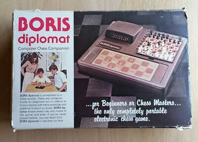 Vintage 1979 Boris Diplomat Electronic Chess Game - 100% Complete And Tested • 45£