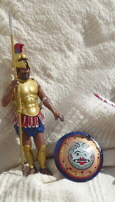 Ancient Greek Warrior - Spear & Shield - 120mm PAINTED • 27.95£