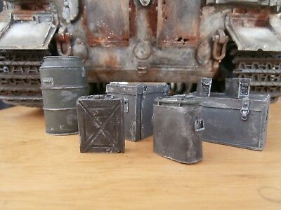 Lowlski 1/16 120mm Scale '7 Peice Ammo & Equipment Boxes' • 18.50£