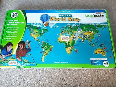 Leapfrog LeapReader Interactive World Map. Great Condition, Pen Not Included • 8£