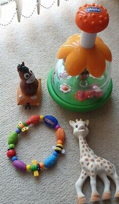 Chicco Carousel Bees And Balls, Sophie The Giraffe Teefing Toy • 14£