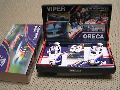 NEW FLY SLOT 2 CAR SET BNIB DODGE VIPER TEAM ORECA 24h LE MANS '98 3rd Car Extra • 65£