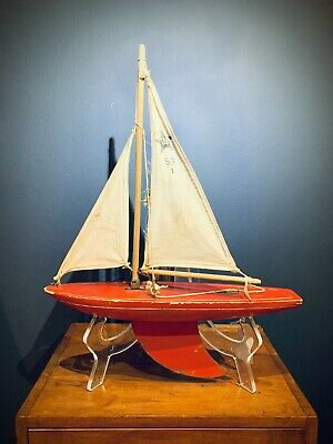 Antique Star Yachts Toy Sailing Boat • 38£