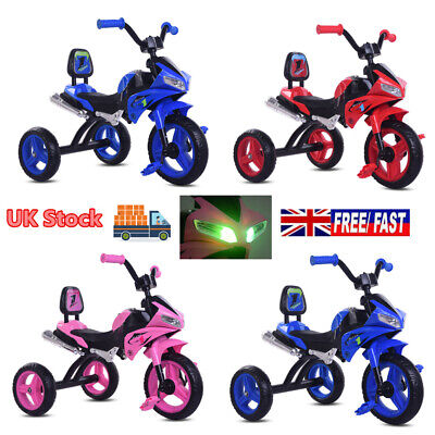 Baby Trike Kids Bike Toddler Ride On Tricycle W/Light&Music Childrens Cool Gift • 32.90£