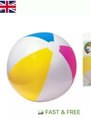 Inflatable Blowup Panel Beach Ball Holiday Party Swimming Garden Pool Toy • 1.99£
