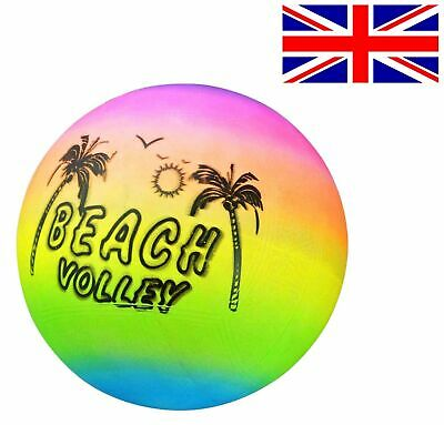 Beach Ball Volleyball Inflatable Kids Beach Ball Pool Rainbow Indoor Outdoor • 2.90£