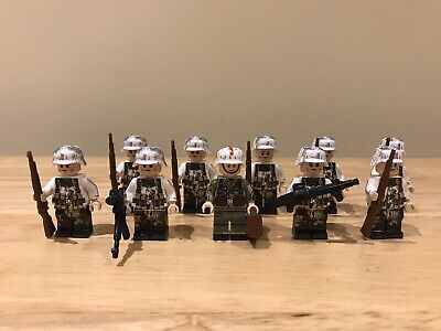 German WW2 Winter Soldiers & Medic Unbranded Figures But Fit Lego Studs (10) • 13.55£