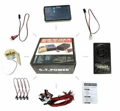 GT Lighting+ Vibration Sound System For Tamiya RC4WD 6x4 Tractor Truck Capo 8x8 • 54.98£