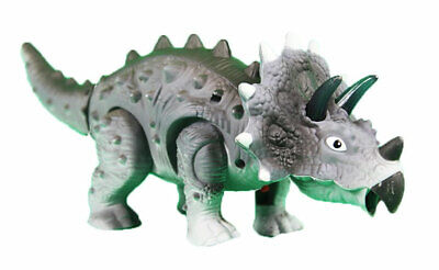 Battery Operated Realistic Walking Dinosaur TRICERATOPS With Light & Sound Toy  • 7.99£