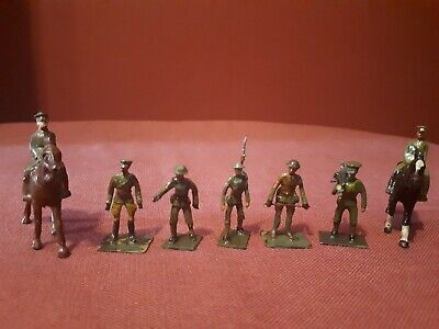 7  X Rare Vintage ?Little Lead Soldiers WW1 Figures - Hand Painted • 8£
