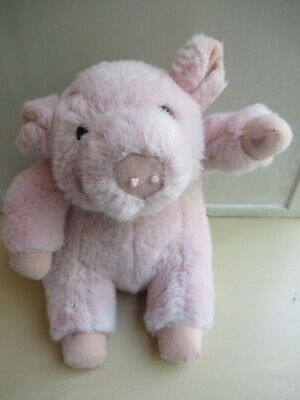 Little Pink Furry Pig, Plush Soft Toy • 0.99£