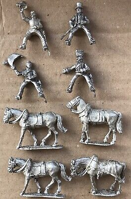 """Wargames Foundry / Perry 28mm Metal """" Napoleonic British Command Mix """" • 12.99£"""