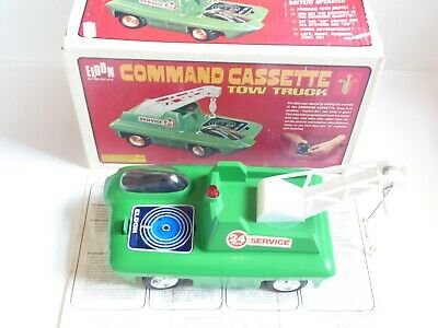VintageEldon Battery Operated Command Cassette Tow Truck 70's Retro Boxed Tested • 74.99£