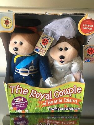 Beanie Kids Will & Kate Royal Couple Wedding Bears LIMITED EDITION 2011 • 30.23£