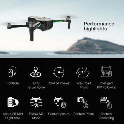 SG906 GPS Brushless 4K Drone With Camera 5G Wifi FPV Foldable Optical Flow V9B0 • 120.63£