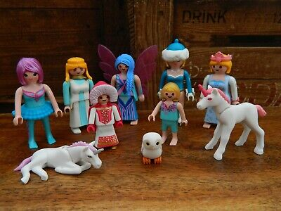 Playmobil Fairy Princess Figure Bundle With Unicorns • 14.95£