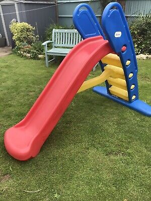 Little Tikes Easy Store Giant Slide Red Yellow Blue • 35£