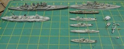 Assorted Waterline Ship Models Spares Repairs Includes Renown BR 88 & Marat  • 12.99£